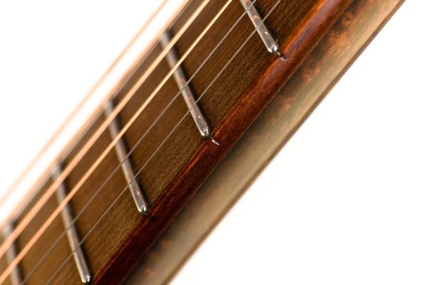 Fingerboard for guitar: maple - diagonal view