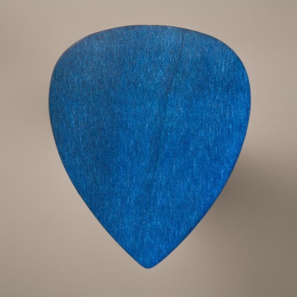 Plektrum für Gitarre aus Ahorn blau
